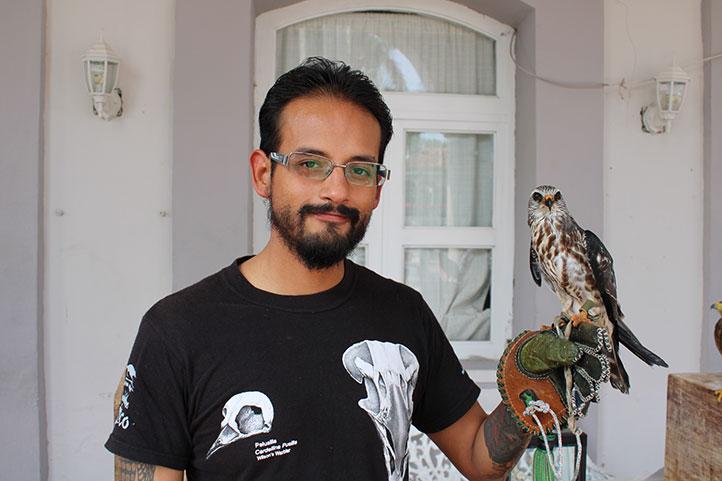 Adrián Ciprés, estudiante de la Maestría en Ecología Tropical del Citro