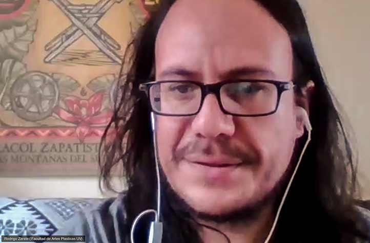 Participó Rodrigo Zárate, docente de la Facultad de Artes Plásticas de la UV