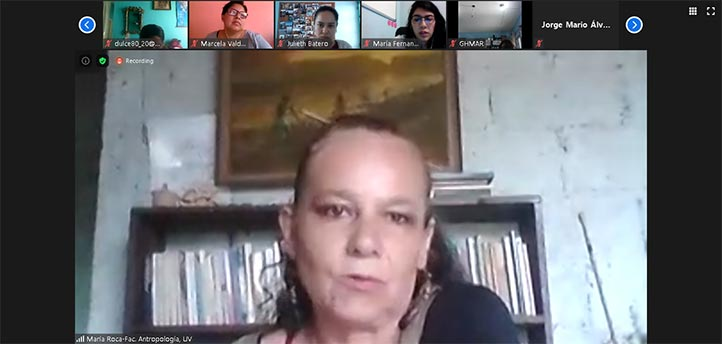 María Elena Roca Guzmán, académica de la Facultad de Antropología