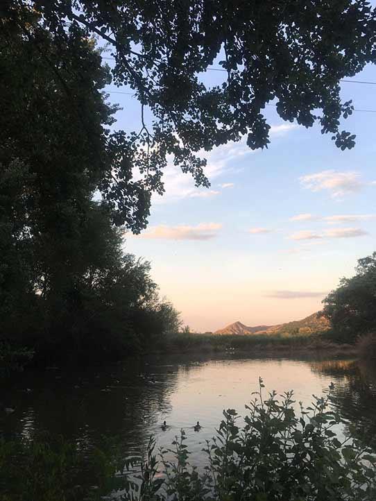 El río Henares pasa a un costado de la ciudad de Alcalá