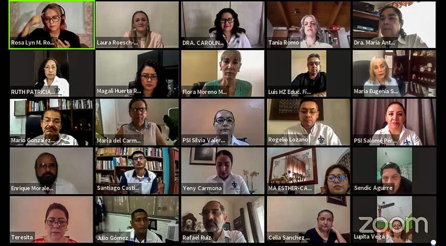 Autoridades universitarias y enlaces de salud estuvieron en este evento virtual