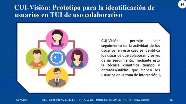 El proyecto propone una técnica de identificación y seguimiento de usuarios en interfaces tangibles de uso colaborativo