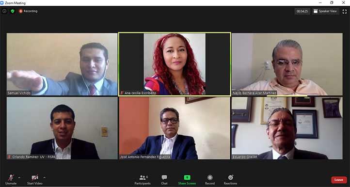El examen profesional de Samuel Vichido Aguilar se realizó en línea