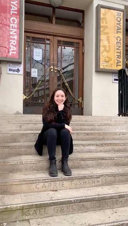 Mariana Pimentel, egresada de la Facultad de Teatro UV