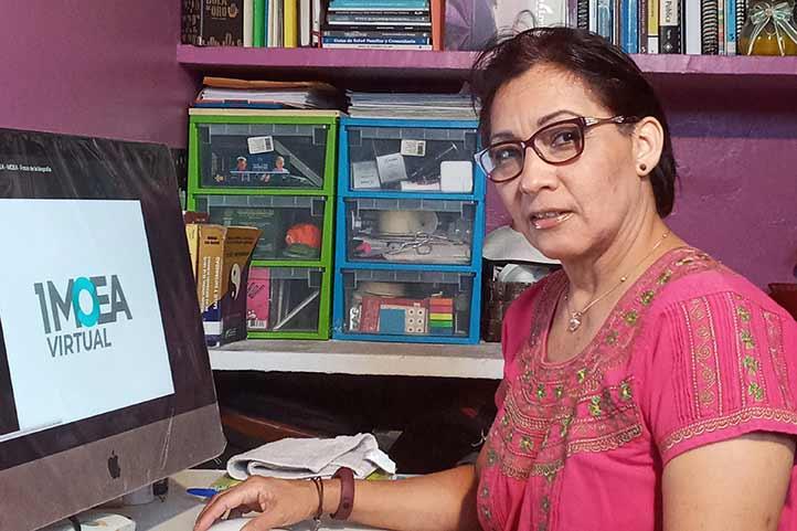Gloria López Mora, docente de la Facultad de Enfermería región Veracruz