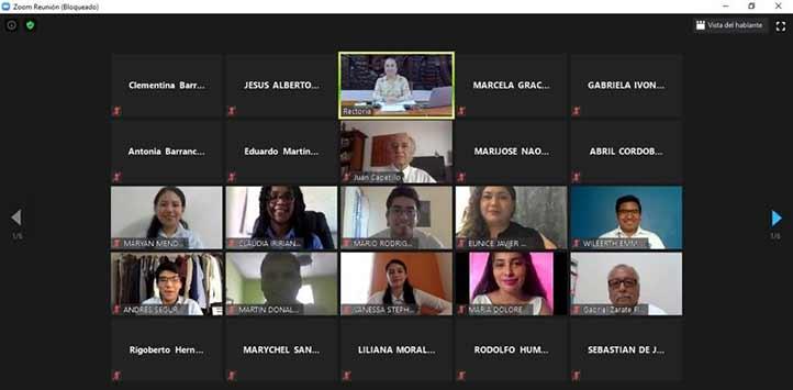 El Consejo Universitario General se realizó de manera virtual