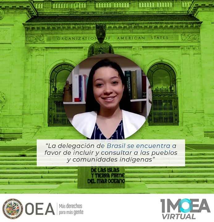 Alejandra Cuevas Ramírez representó a la UV en el Primer Modelo Virtual de la OEA para Universidades