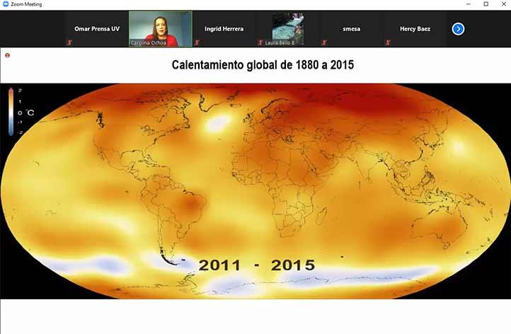 Carolina Ochoa Martínez habló del calentamiento global