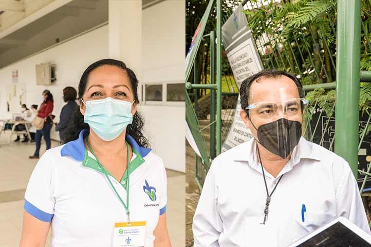 Araceli Tercero Olvera y Sergio Aguilar Aguilar, coordinadores de las sedes Pedagogía y FCAS