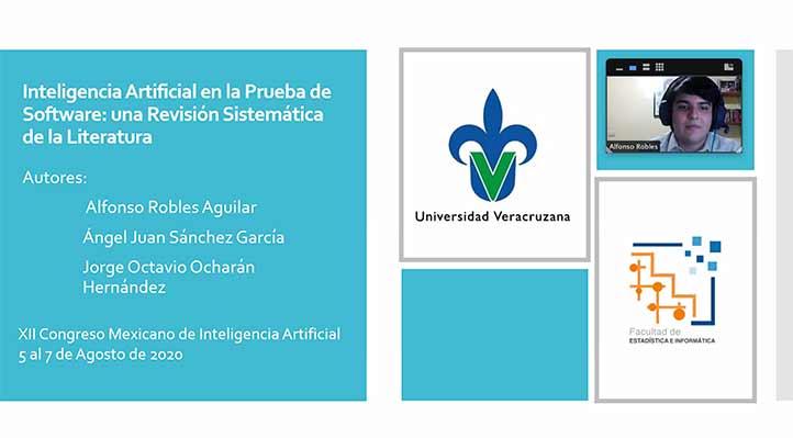 Alfonso Robles durante su presentación en el XII Congreso Mexicano de Inteligencia Artificial