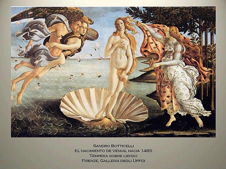 El nacimiento de Venus, la creación más célebre de Botticelli