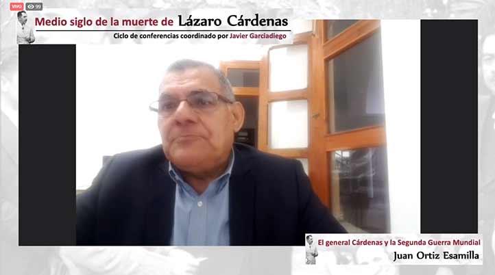 """Juan Ortiz Escamilla impartió la ponencia """"El general Cárdenas y la Segunda Guerra Mundial"""""""
