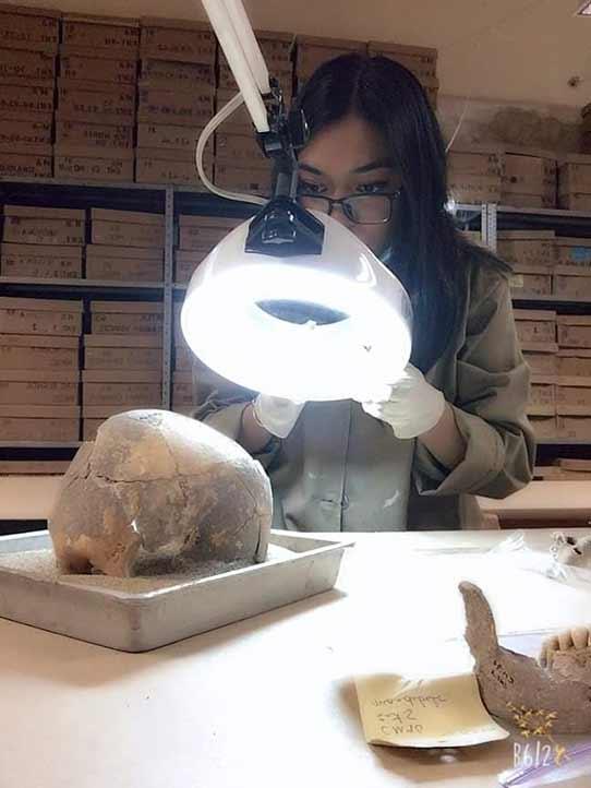 Trabajó con material óseo resguardado en bodegas y el Laboratorio de Osteología del Centro INAH-Oaxaca