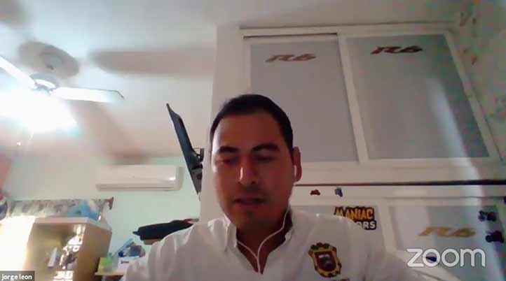 Jorge León Escobar, alumno de la Facultad de Ciencias Químicas