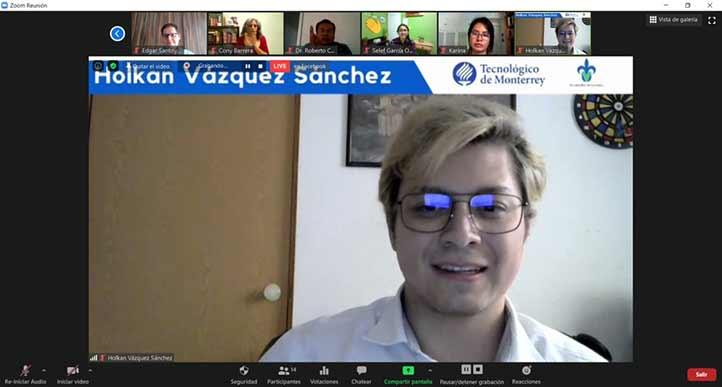 Holkan Vázquez Sánchez, estudiante de la maestría en Ciencias de la Ingeniería del Tecnológico de Monterrey