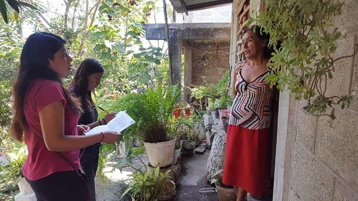 Las estudiantes hicieron un diagnóstico con habitantes de la comunidad Arenal