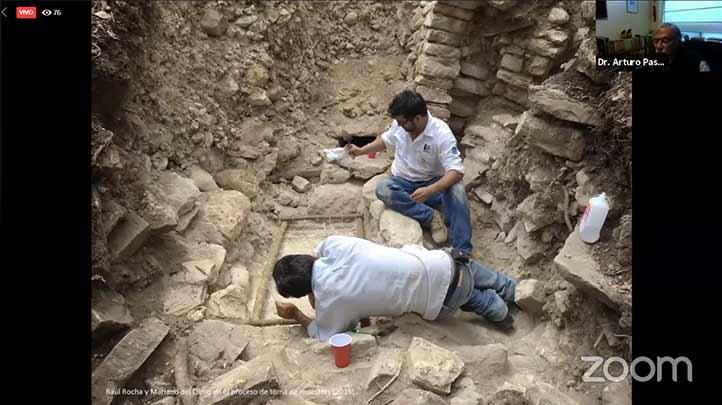 El investigador Arturo Pascual Soto habló de dos tumbas encontradas en el sitio arqueológico