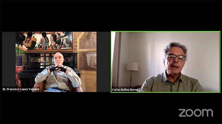 La cátedra fue transmitida por Tele UV a través de Facebook, y moderada por Carlos Ibáñez del CEICAH