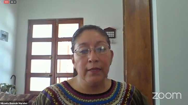 Micaela Guzmán Morales, de la Dirección de Lingüística del INAH, también fue panelista