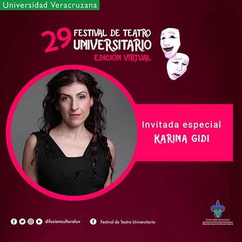 Karina Gidi participará el sábado 31 de octubre