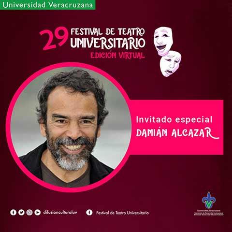 Damián Alcázar estará en la inauguración, el martes 27