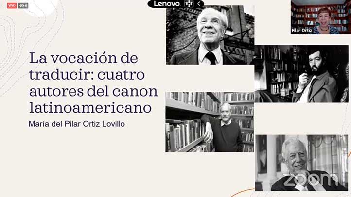 La traductora presentó a cuatro destacados autores latinoamericanos y su fuerte vínculo con la traducción