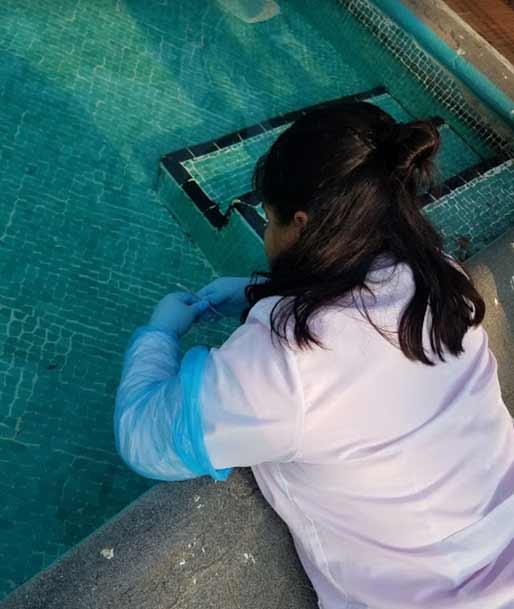 También se analizó la calidad del agua de las albercas de la BENV y las del IMSS de Xalapa y Coatepec