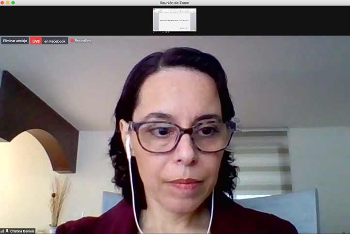 Martha Cristina Daniels Rodríguez ofreció un panorama general sobre el derecho a la salud en México