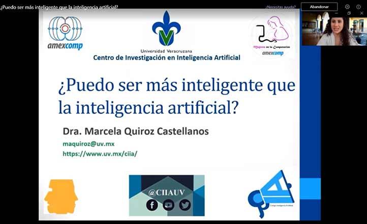 Marcela Quiroz, del CIIA de la UV, habló sobre las definiciones de la inteligencia artificial