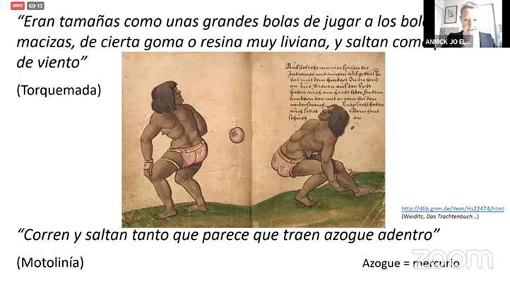 Annick Daneels dijo que el juego de cadera con pelota de hule es el más característico de Mesoamérica