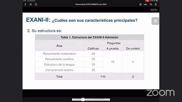 Habló sobre las características de esta prueba que evalúa la capacidad que tendrán aspirantes en las aulas universitarias