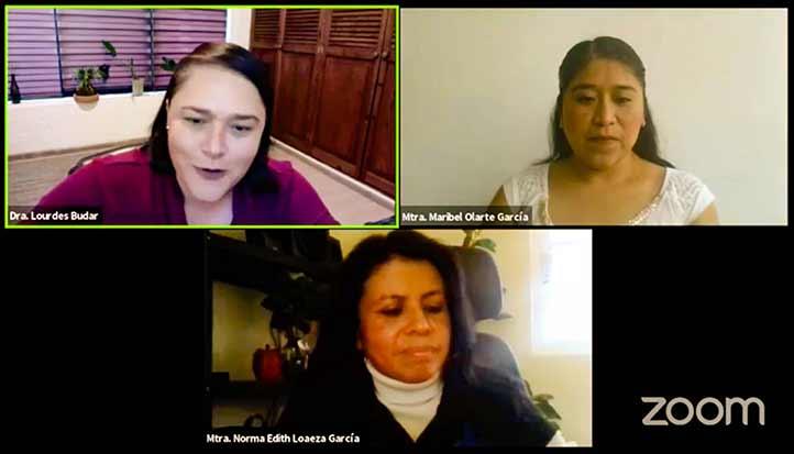 Lourdes Budar, Maribel Olarte y Norma Edith Loaeza dieron a conocer la oferta educativa de la UVI