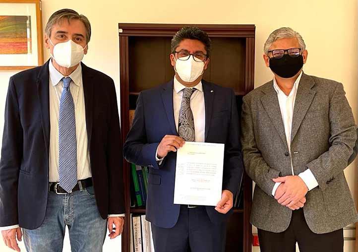 Ángel Trigos Landa, Luis Isauro García Hernández y Jorge Manzo Denes