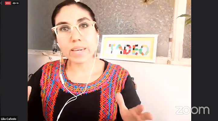 Lilia Cañedo Morales, antropóloga histórica, participó en la jornada funeraria organizada por el CECC