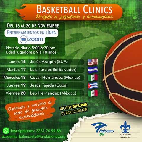 La Basketball Clinics 2020 se realizará del 16 al 20 de noviembre