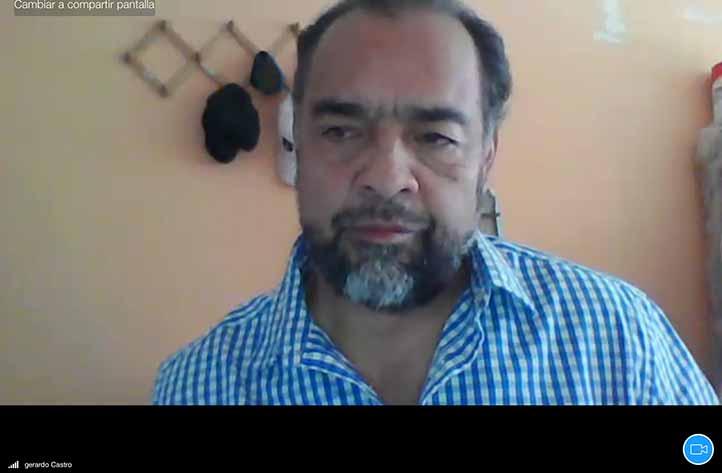 Gerardo Castro Bobadilla, miembro del jurado calificador, estuvo en la presentación virtual de la tesis