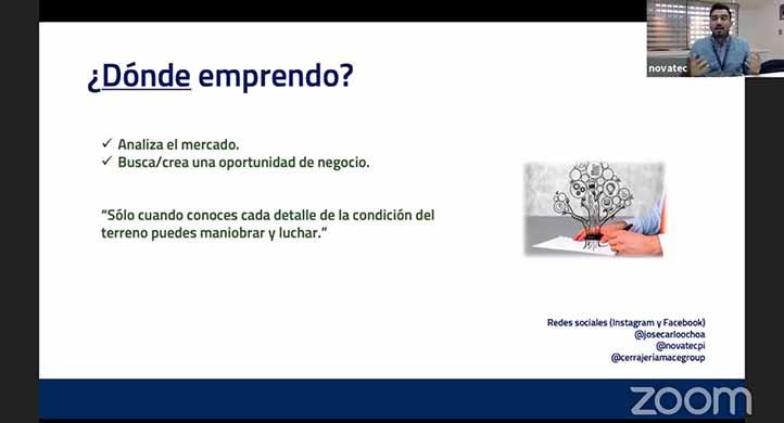 José Carlos Ochoa, de ImpulsaPI, habló a los jóvenes acerca del emprendimiento