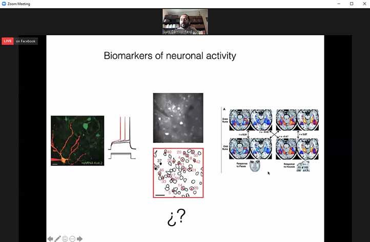"""Dictó la ponencia """"Control óptico de ensambles neuronales para entender procesos de percepción, memoria y estados patológicos"""""""