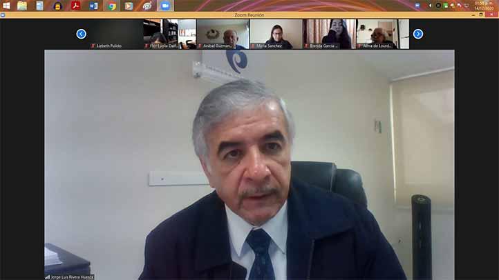Jorge Luis Rivera Huesca, titular de la Defensoría de los Derechos Universitarios, rindió el informe respectivo de la dependencia