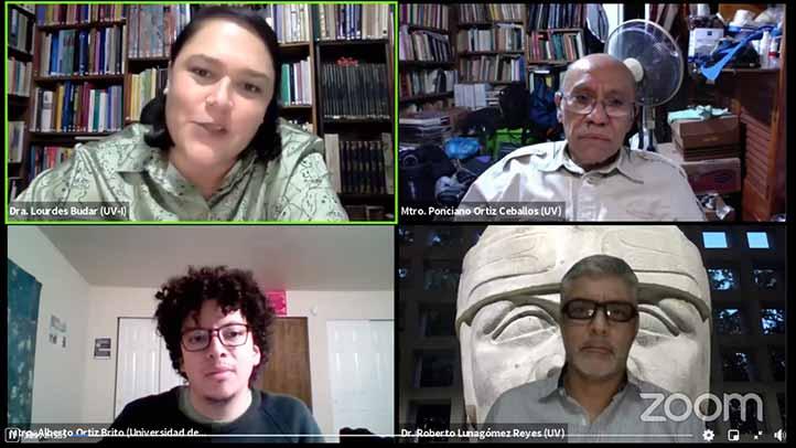Lourdes Budar, Ponciano Ortiz, Alberto Ortiz y Roberto Lunagómez