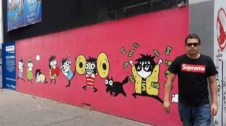 Desde su niñez, Miguel Ramón Nogueda se interesó en el grafiti