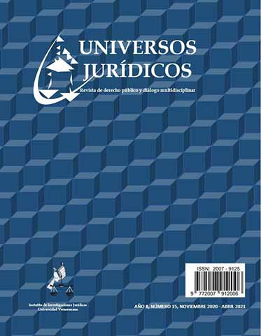 De manera virtual circula ya el número 15 de la revista Universos Jurídicos del IIJ de la UV