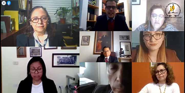 José Francisco Báez Corona moderó la presentación virtual del número 15 de la revista Universos Jurídicos, que publica el IIJ