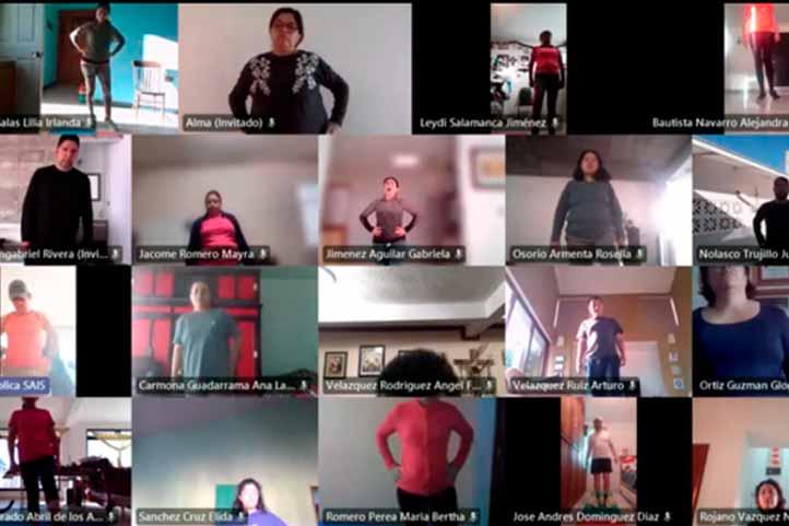 A través de talleres virtuales, el SAISUV promueve estilos de vida saludable