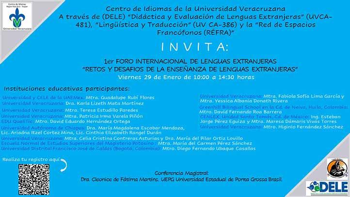 Centro de Idiomas región Poza Rica-Tuxpan realizará 1er Foro Internacional de Lenguas Extranjeras
