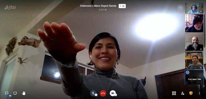 Eva López Tello Mera presentó su examen para obtener el grado de Doctora en Neuroetología