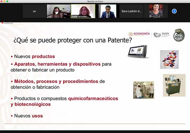 En el marco de la celebración por el Día del Inventor, la funcionaria del IMPI habló acerca de los productos patentables