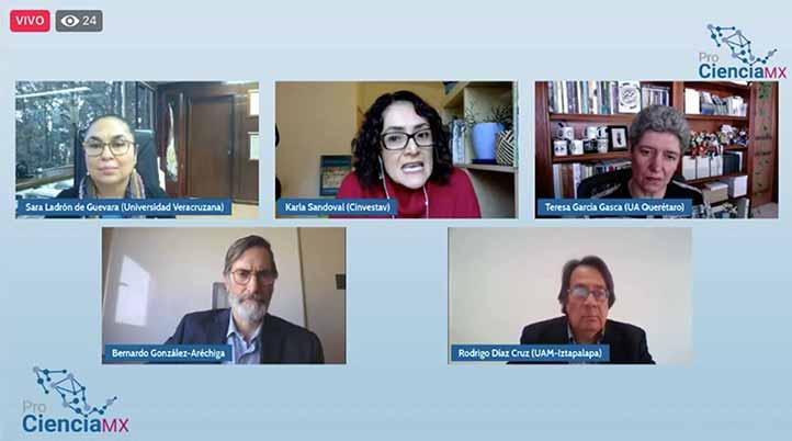 La Red ProCienciaMX organizó conversatorio con rectores para discutir el anteproyecto de la iniciativa de ley presentada por el Conacyt