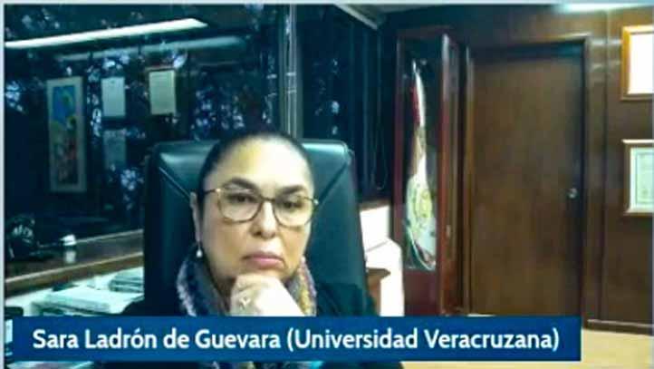 La rectora Sara Ladrón de Guevara dijo que las academias y el trabajo colegiado no pueden estar supeditados a los éxitos partidistas y periodos sexenales