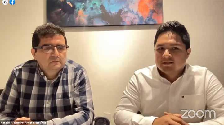 Luis Mario Peredo Rezk y Natalio Alejandro Arrieta Martínez, titulares de las notarías públicas Número 12 y 30 de Coatzacoalcos, respectivamente
